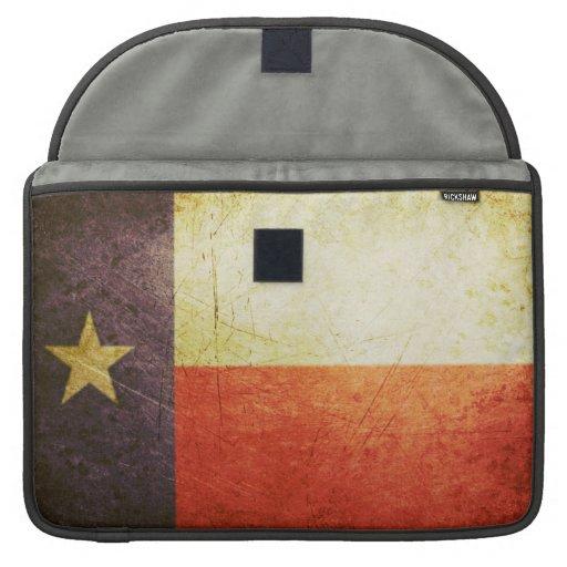 Texas Flag Grunge effect Sleeves For MacBooks