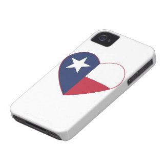 Texas Flag Heart iPhone 4 Cover