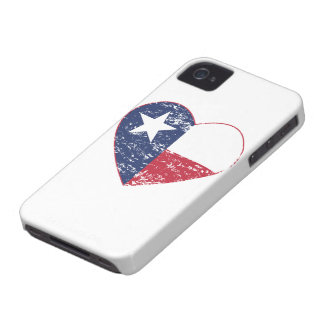 Texas Flag Heart Distressed iPhone 4 Covers