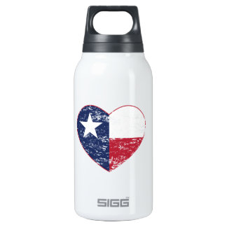 Texas Flag Heart Distressed SIGG Thermo 0.3L Insulated Bottle