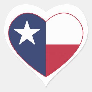 Texas Flag Heart Heart Sticker