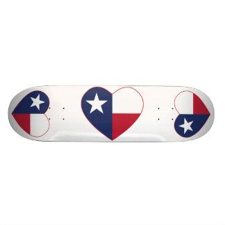 Texas Flag Heart Skateboard Deck