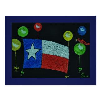 Texas Flag in Scratchboard Art Postcard