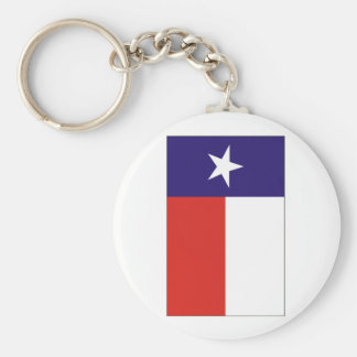 Texas Flag Basic Round Button Keychain