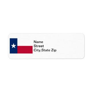 Texas Flag Label