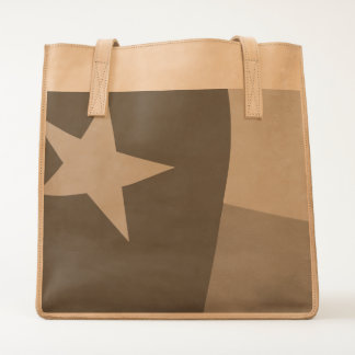 Texas Flag Leather Tote by Ubuntu