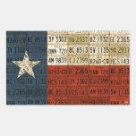 Texas Flag License Plate Art Lone Star Sticker