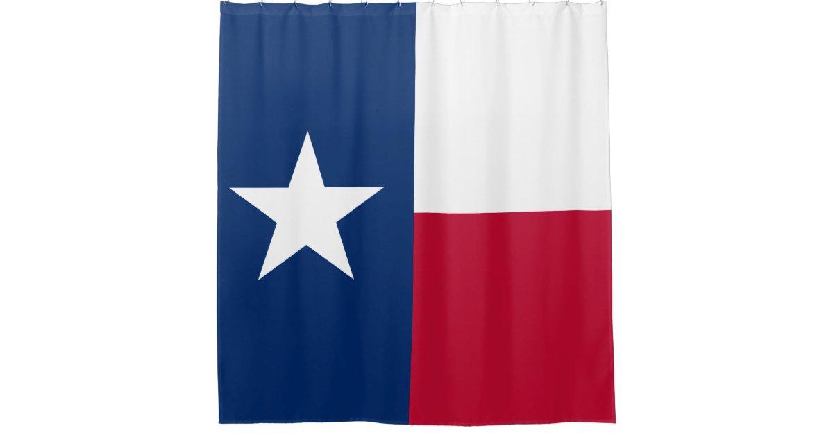 Texas Flag Lone Star State Flag Shower Curtain Zazzle