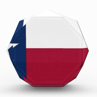 Texas Flag lone star state red white blue colors Acrylic Award