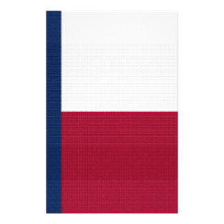 Texas Flag lone star state red white blue colors Flyer