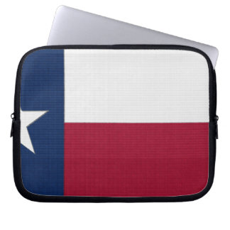 Texas Flag lone star state red white blue colors Laptop Sleeves