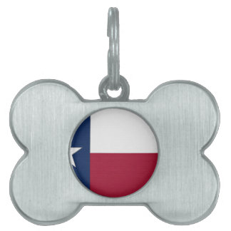 Texas Flag lone star state red white blue colors Pet Name Tag