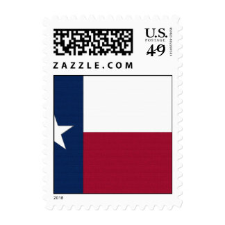 Texas Flag lone star state red white blue colors Postage
