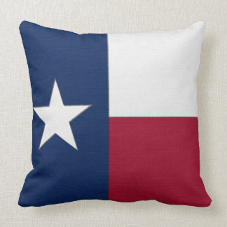 Texas Flag lone star state red white blue colors Throw Pillow