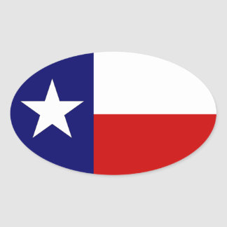 Texas Flag Lone Star State Travel Oval sticker