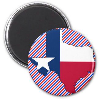 Texas Flag Map 2 Inch Round Magnet