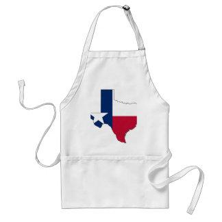 Texas Flag Map Adult Apron