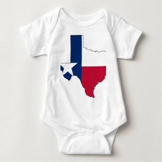 Texas Flag Map Baby Bodysuit