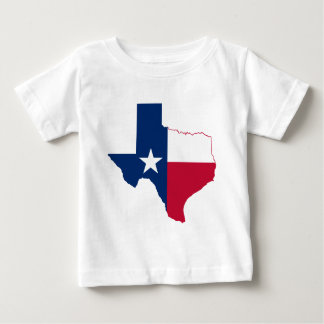 Texas flag map baby T-Shirt