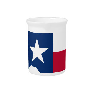 Texas flag map beverage pitcher