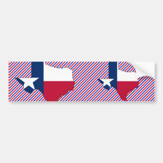 Texas Flag Map Bumper Sticker