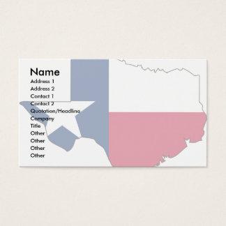 Texas Flag Map Business Card