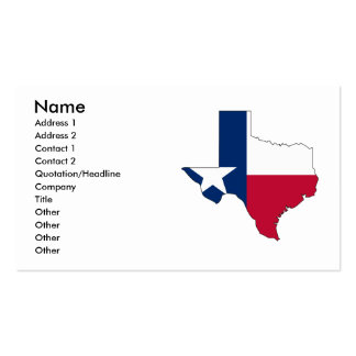 Texas Flag Map Business Cards