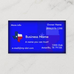 Texas business cards templates zazzle texas flag map business cards colourmoves