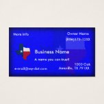 Texas Flag-map Business Cards at Zazzle