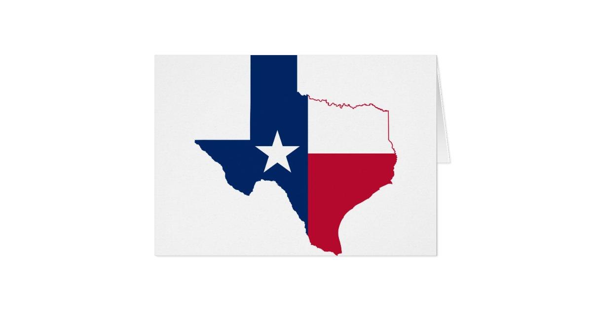 Texas Flag Map Card  Zazzle