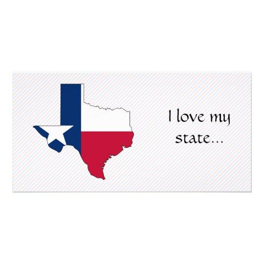 Texas Flag Map Card