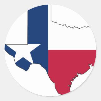 Texas Flag Map Classic Round Sticker