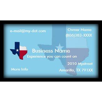 Texas Flag business card