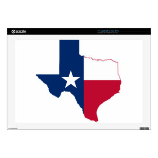 Texas flag map decal for laptop