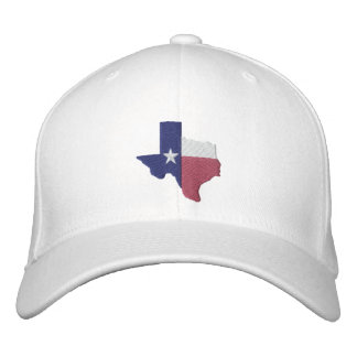 Texas Flag Map Embroidered Baseball Hat