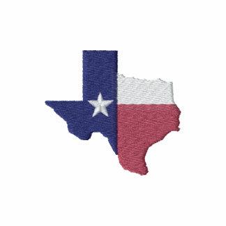 Texas Flag Map Embroidered Shirts