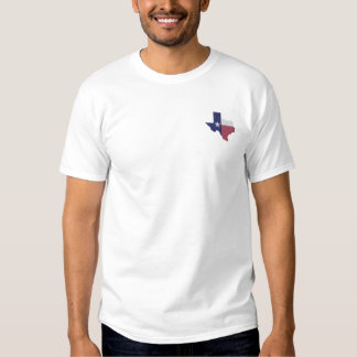 Texas Flag Map Embroidered T-Shirt