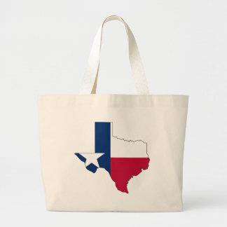 Texas Flag Map Jumbo Tote Bag