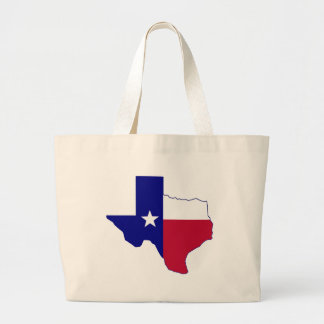 Texas Flag Map Large Tote Bag