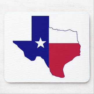 Texas Flag Map Mouse Pad