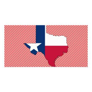 Texas Flag Map Photo Card
