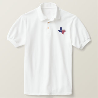Texas Flag Map Polo Shirt