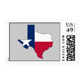 Texas Flag Map Postage
