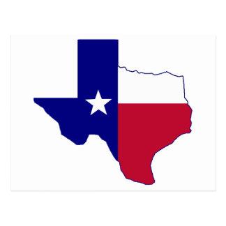 Texas Flag Map Postcard
