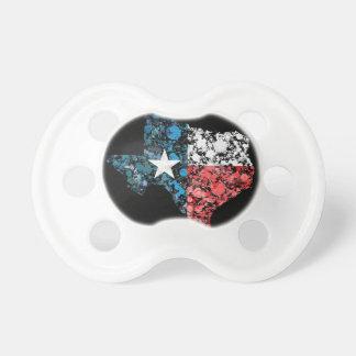 Texas Flag Map Splatter of paint BooginHead Pacifier