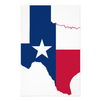Texas flag map stationery