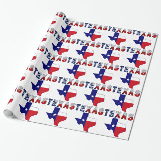 Texas Flag Map With Texas Wrapping Paper