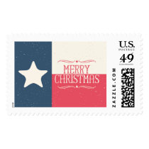 Texas Flag Merry Christmas Postage Stamps