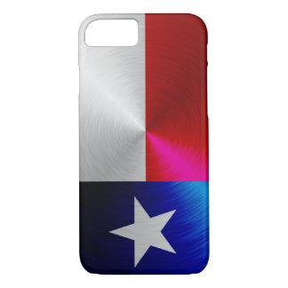 Texas Flag; metal-look iPhone 7 case