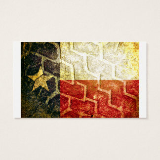 Texas Flag Mud Tire Business Card